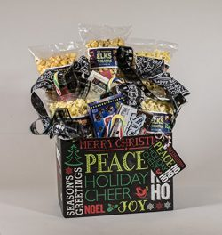 Holiday Chaulkboard Gourmet and Theater Popcorn Gift Basket