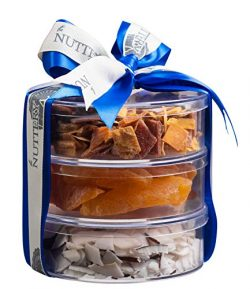 The Nuttery Premium Dried Fruit Gourmet Holiday Gift Tower- Pears ~ Tropical Mix ~ Coconut ~Chan ...