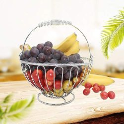 Stainless Steel Fruit Basket, Wire Serving Fruit Tray Storage Basket Decorative Countertop Fruit ...