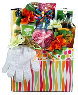 Citrus Wave, Spa Gift Basket for Her – Spoil Her With A Luxury Spa Gift Basket That Includ ...
