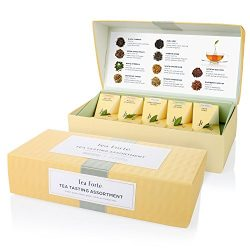 Tea Forté Tea Tasting Assortment Petite Presentation Box Tea Sampler, Assorted Variety Tea Box,  ...