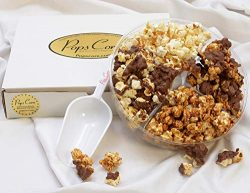 Pops Corn! Holiday Gift Basket, Assorted Popcorn Variety/Christmas Gourmet Holiday Chocolate foo ...
