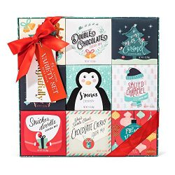 Holiday Cocoa Variety Gift Set | 9 Different Festive Flavors Including Gingerbread, Salted Caram ...