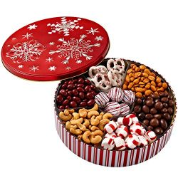 Chocolate Nuts Gift Basket Prime – Christmas Holiday and All Occasions – Deluxe Snack Samp ...