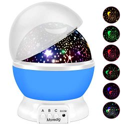 Projection Light Night Lighting Lamp Star Projector lamp with 8 Multicolor 360°Rotation with 6.5 ...