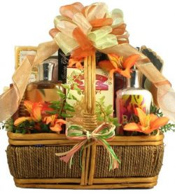 Tropical Retreat Spa and Sweets | Bath and Body Gift Basket for Women