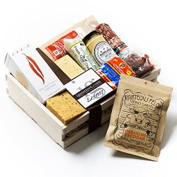 KaBloom Gift Basket Collection: Spicy Lover's Gourmet Meat and Cheese Gift Crate