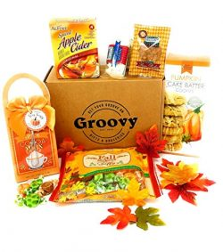 Thanksgving Fall Care Package Gift Basket – Pumpkin Spice Gift Box – Perfect for Get ...