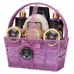 Spa Gift Basket for Women, Bath and Body Gift Set for her, Luxury 8 Piece,Lily & Lilac Scent ...