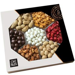 Oh! Nuts Gourmet Peanuts Chocolate & Candy Assortment Gift Tray 7 Variety Gift Tray | Christ ...