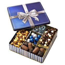 Chocolate and Nuts Gourmet Gift Basket Prime – Hanukkah Holiday and All Occasions –  ...