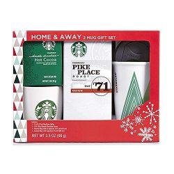 Starbucks Home & Away Stoneware Mug, Hot Cocoa, and Coffee Gift Set
