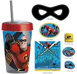 Incredibles 2 Fun Sip Favor Cup Valentines Day Gift, Easter Basket Filler, Stocking Stuffer or P ...