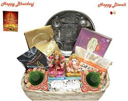 Diwali/Bhaidooj Mega Gift Hamper – Haldiram Soan Papdi, Dry Fruits, Chocolates, Thali and  ...