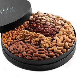 Gourmet Nut Gift Tray – 10″, Freshly Roasted Assorted Nuts for Holiday and Corporate ...