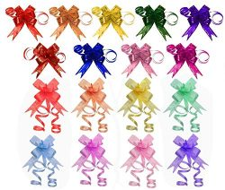 Penta Angel 170Pcs 17 Colors String Bows Basket Gift Pull Bows Gift Knot Ribbon Present Wrapping ...