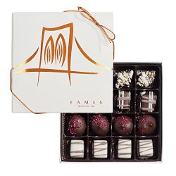 Fames Assorted Chocolate Gift Box – Handcrafted Deluxe Chocolates – Kosher Pareve(16 Count)