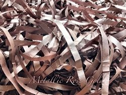 Metallic Rose Gold Shredded Tissue Paper Shred Hamper Gift Box Basket Filler Fill Premium Qualit ...