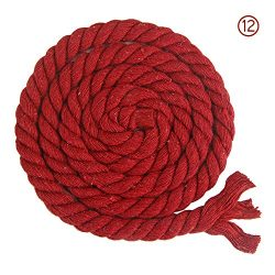 VVFi Colorful Twisted Cotton Rope Twine Natural Thick Cords For Storage Basket Woven Nursery Dec ...