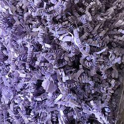 Black Cat Avenue 1 LB Lavender Crinkle Cut Paper Shred Filler for Gift Wrap and Basket Filler