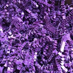 Black Cat Avenue 2 LB Plum Purple Crinkle Cut Paper Shred Filler for Gift Wrap and Basket Filler