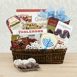 Hanukkah Party Time Gourmet Gift Basket (822-KD)