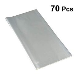 Toyvian 70pcs Clear Cellophane Wrap Sheets Gift Wrapping Protective Paper for Festival Wedding B ...