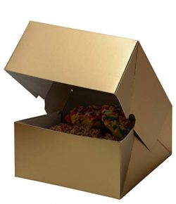 Christmas Cookie Gift Boxes, Metallic Gold 6 Inch, for Gift Giving On Holiday, Wedding, Annivers ...