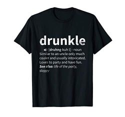 Drunkle Definition Father's Day Drunk Uncle Gift shirt