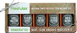 FreshJax Gourmet Spices and Seasonings, Grill Accessories Gift Box, All-Star Barbecue (5 Pack)