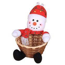 lotus.flower Christmas Candy Storage Basket – Santa Claus Storage Basket Gift Decoration B ...
