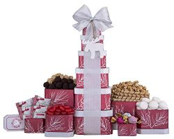 Remarkable Gift Co. Holiday Sweets and Chocolate Gourmet Gift Tower