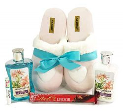 Complete Christmas, Birthday, Thinking of You, I Love You, Spa Slipper (Large) Gift Basket Box f ...
