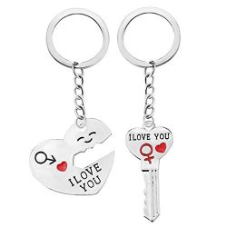 Euone  Keychain, Romantic Couple Keychain I Love You Keyring Keyfob Valentine's Day Lover  ...