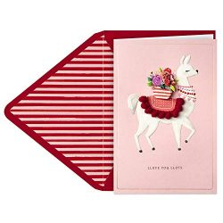 Hallmark Signature Valentine's Day Card (Llama Llove)