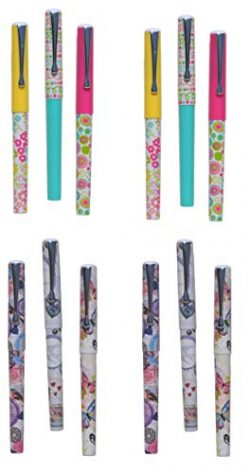Set of 12 Pens Colorful Fun Festive Writing Pen Set for Any Occasion Easter Basket Stocking Stuf ...