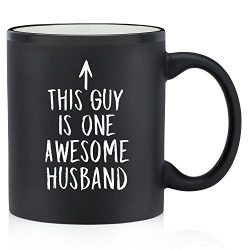 One Awesome Husband Funny Mug – Best Christmas, Birthday or Anniversary Gifts For Husband, ...