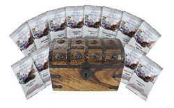 Coffee Treasure Chest Trunk Sampler 12 Holiday Coffee Masters Variety Pack Gift Set by Well Pack Box