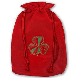 TPSXXY St. Patrick's Day Shamrocks Large Christmas Drawstring Bag Santa Present Bag Basket ...