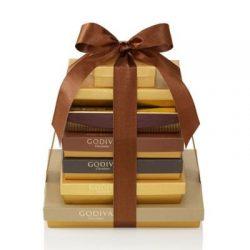 Godiva Chocolatier Decadent Dreams Gift Tower, Chocolate Variety Holiday Gift Basket