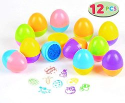 Easter Egg Stampers 12 PCs Great Easter Toys for Easter Eggs Hunt Game, Easter Theme Party, East ...