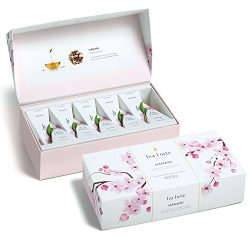 Tea Forté Petite Presentation Box Tea Samplers, Assorted Variety Tea Box, 10 Handcrafted Pyramid ...
