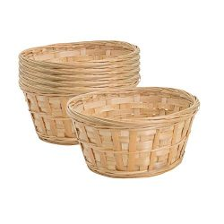 Royal Imports 8″ Round Natural Bamboo Handwoven Bread Basket 4″x8″ with Braide ...
