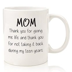 Gifts For Mom – Funny Mug: Thank You For Giving Me Life – Best Mom Christmas Gifts & ...