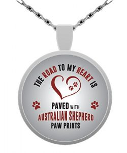 Australian Shepherd Necklace – Aussie Sheperd Pendant – Gift Basket Box Ideas Favors ...