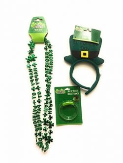 Happy ST. Patrick's Day Various Headbands With Necklace LED ST. Patrick's Day Bracel ...