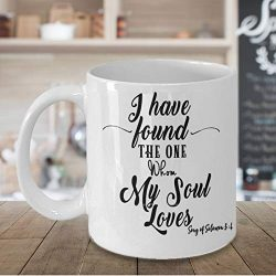 Bible Verse Mug, Valentine39;s Day gift, Romantic Gift, Anniversary, Song of Solomon, I have fou ...