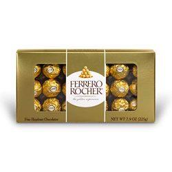 Ferrero Rocher Fine Hazelnut Chocolates, 18 Piece Gift Box, 7.9 oz