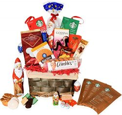 Christmas Gift Baskets Godiva, Starbucks, Macaroons, Chocolate, Santa, Lindt, Walkers, Holiday & ...