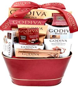 Godiva Chocolatier Deluxe Gift Basket – New 2018 Assortments (12 Count)